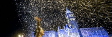 Miracolo Nevica ad agosto a Roma